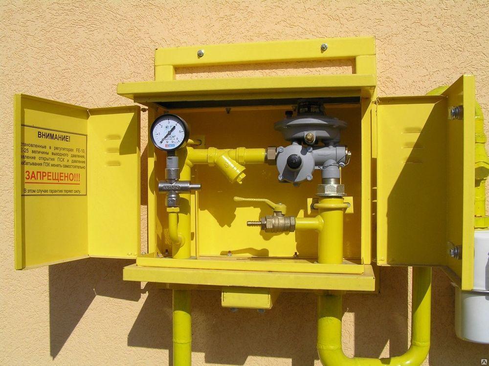 Домовой газорегуляторный пункт ДРП3 с двумя линиями редуцирования